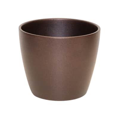Vaso Spring ALMAS S.A. in ceramica colore bronzo H 14 cm, Ø 17 cm