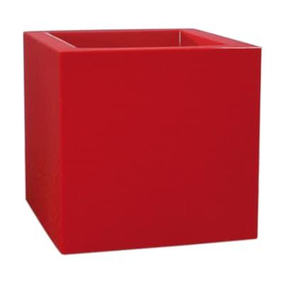 Vaso Kube Gloss EURO3PLAST in polietilene colore rosso H 30 cm, L 30 x P 30 cm