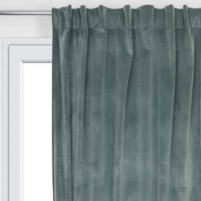 Tenda Misty verde passanti nascosti 135 x 280 cm