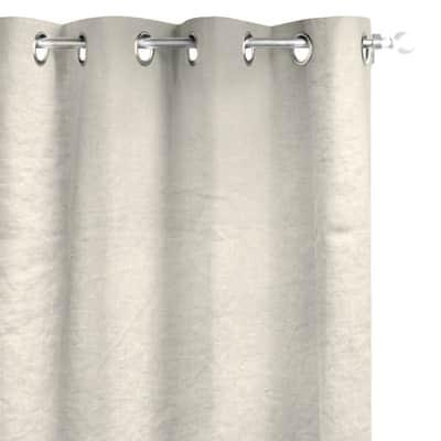 Tenda INSPIRE Lino lavato crema occhielli 140x280 cm