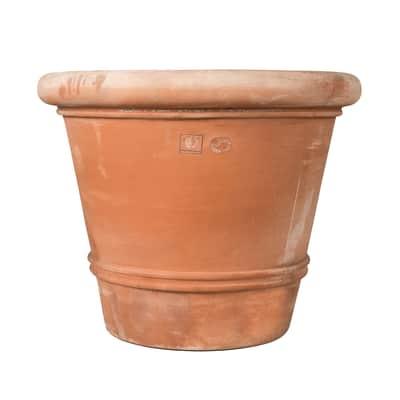 Vaso Liscio bordato in terracotta H 93 cm, L 110 x P 110 cm