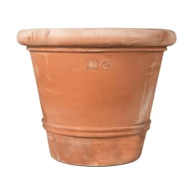 Vaso Liscio bordato in terracotta colore cotto H 72 cm, L 90 x P 90 cm
