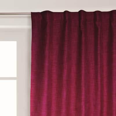 Tenda Oscurante Ignifugo Lin rosso fettuccia con passanti nascosti 140 x 300 cm