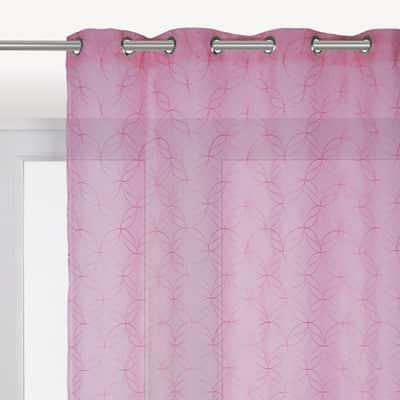 Tenda INSPIRE Abela rosa occhielli 140x280 cm