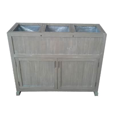 Baule da esterno in legno 102 x 45 cm