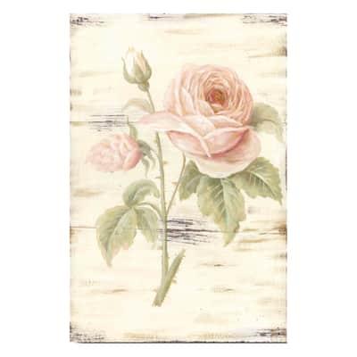 Quadro con cornice Rosa 30x20 cm