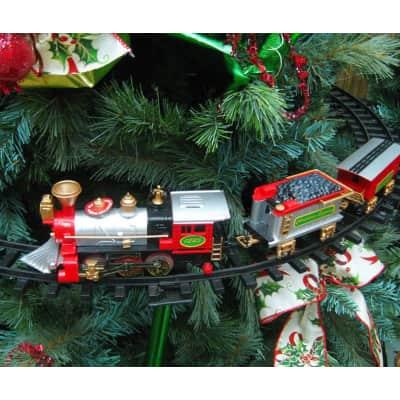 Trenino con supporto per albero in plastica Ø 88 cm