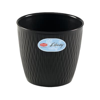 Vaso Liberty STEFANPLAST in plastica colore grigio H 27 cm, Ø 30 cm