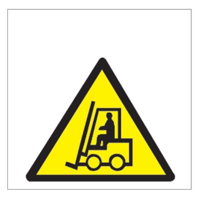 Cartello segnaletico Movimento carrelli vinile 17 x 17 cm