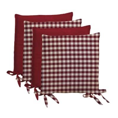 Cuscino per seduta Quadri rosso 40x40 cm