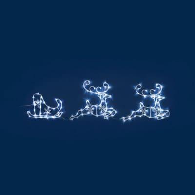Renna 144 lampadine bianco freddo H 50 cm
