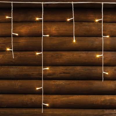 Tenda luminosa 480 lampadine led bianco caldo H 60 x L 2000 cm