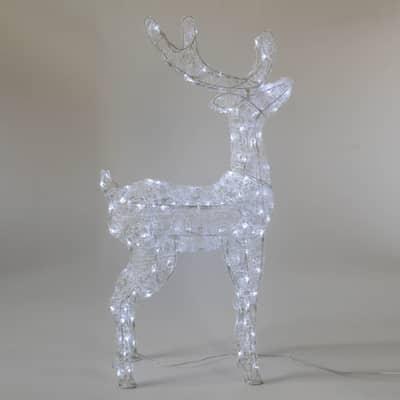 Renna 160 lampadine bianco freddo H 98 cm