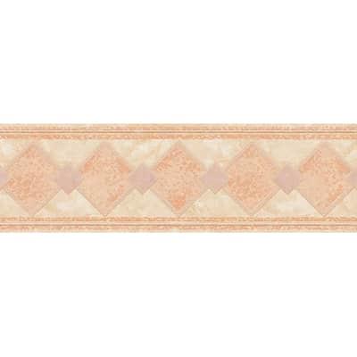 Bordo Losanghe rosa 13.3 cm x 5 m