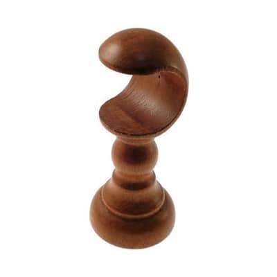 Supporto singolo aperto Ø35mm Londra in legno ciliegio verniciato14 cm