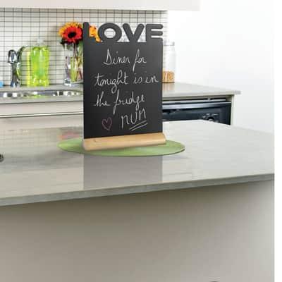 Lavagna per gesso Love teak 21x33 cm