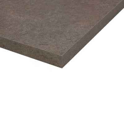 Piano cucina su misura in truciolare Porfido Sabbia marrone scuro , spessore 2 cm