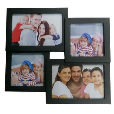 Cornice Easy4 per 4 fotografie 10 x 15 nero
