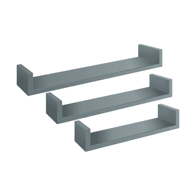 Mensola Spaceo L 60 x P 15.5 cm, Sp 1.8 cm grigio