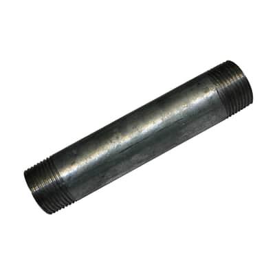 """Tubo acciaio in ferro zincato Barilotto tronchetto in acciaio zincato Ø 1/2"""" L 2 m"""