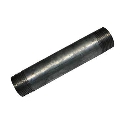 """Tubo acciaio in ferro zincato Barilotto tronchetto in acciaio zincato Ø 1/2"""" L 0.5 m"""