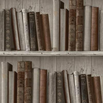 Carta da parati Libreria grigio