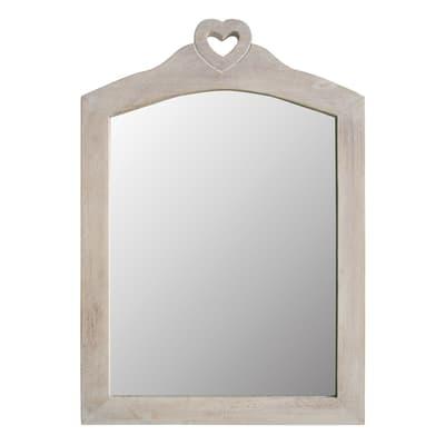 Specchio a parete rettangolare Penelope beige 40x56 cm