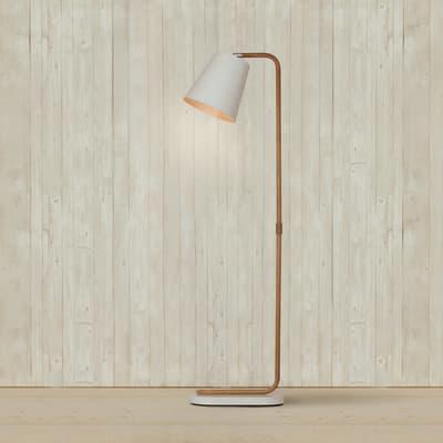 Lampada da terra Cona marrone, in acciaio, H140cm, MAX60W
