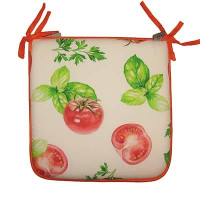 Cuscino per sedia pomodoro rosso e arancione 40x40 cm