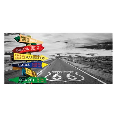 Pannello decorativo Route 66 210x100 cm