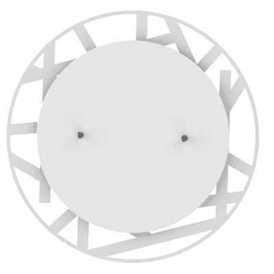 Plafoniera Shadow t bianco, in vetro, diam. 40, LED integrato 18W IP20 LUMICOM
