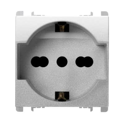 Presa universale SIMON URMET Nea 16 A alluminio