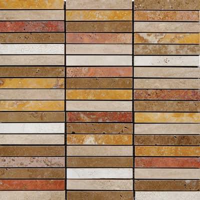 Mosaico Rosso Verona H 30 x L 30 cm rosso
