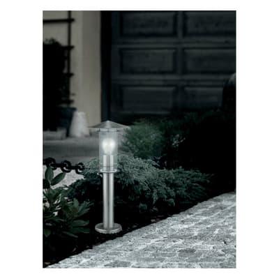 Palo della luce Lisio H50cm in acciaio, grigio, E27 1xMAX60W IP44 EGLO
