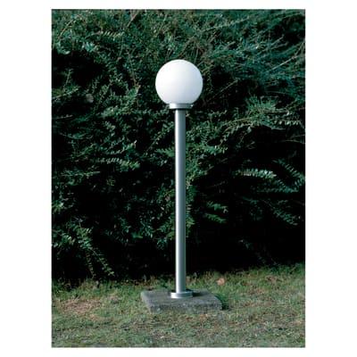Lampione Aalborg H105cm LED integrato in metallo acciaio 5.8W 630LM IP44 BRILLIANT