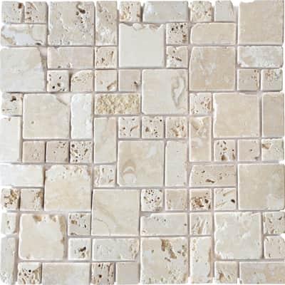 Mosaico Travertino Romano H 10 x L 30.5 cm