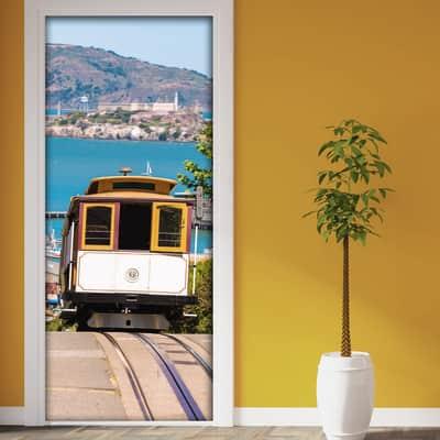 Sticker San Francisco tram 9x96 cm