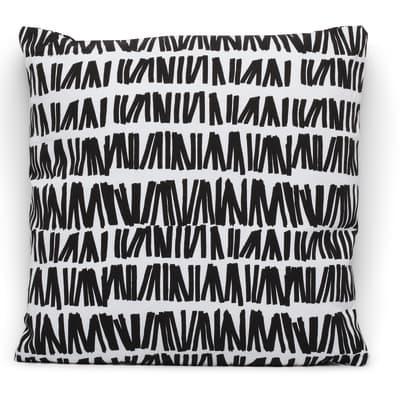 Cuscino Zoul bianco e nero 40x40 cm Ø 53 cm