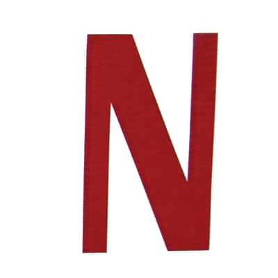 Lettera N adesivo, 3 x 2 cm