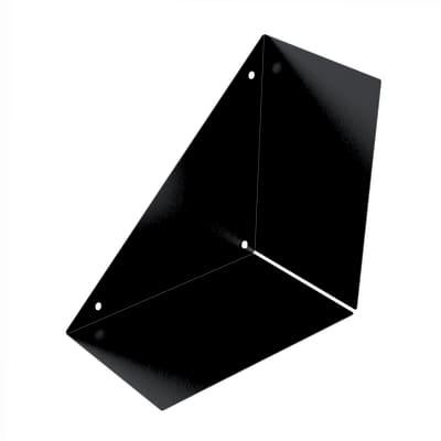 Mensola a L L 18 x P 18 cm, Sp 0.15 cm nero