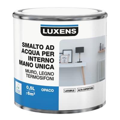 Smalto LUXENS base acqua bianco opaco 0.5 L