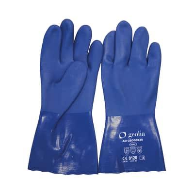 Guanto per protezione chimica in pvc GEOLIA 10 / XL
