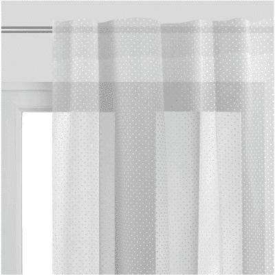 Tenda Plumetis bianco passanti nascosti 150 x 300 cm