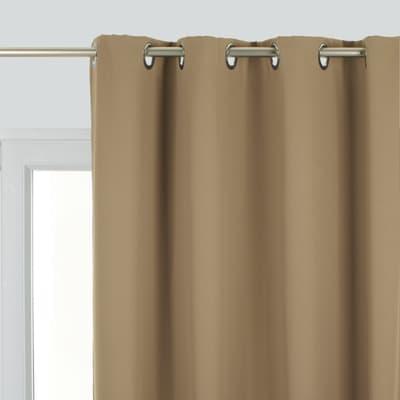 Tenda INSPIRE Oscurante tortora anelli 140 x 260 cm