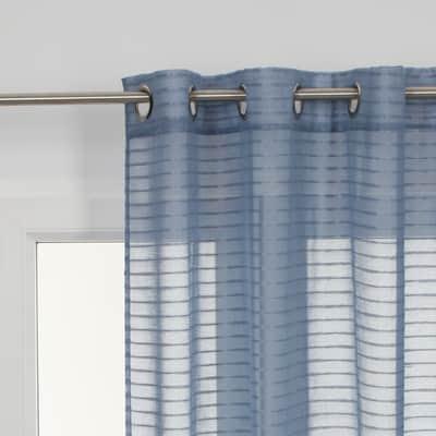 Tenda Righe orizzontali azzurro occhielli 140 x 280 cm