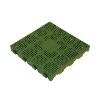 Piastrelle ad incastro Piastrella ad incastro plastica 40 x 40 cm, Sp 48 mm colore verde
