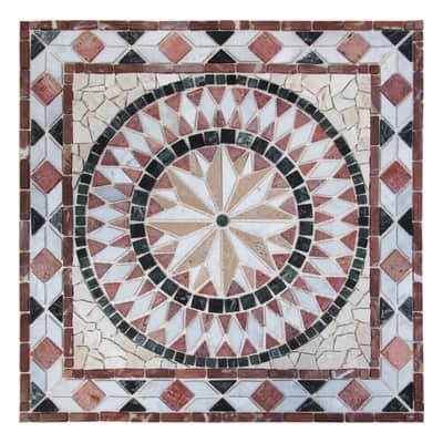 Rosone Diamante H 67 x L 67 cm multicolore