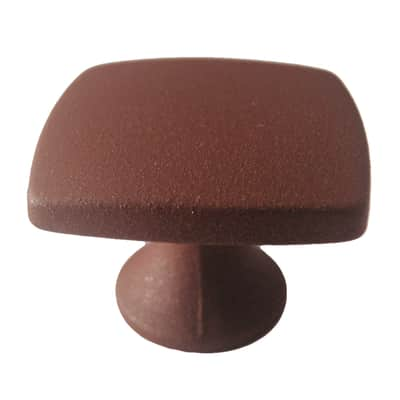 Pomolo in zama marrone Ø 27 mm 2 pezzi