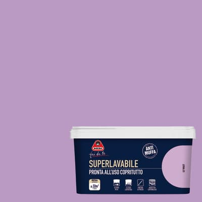 Pittura murale Superlavabile BOERO 2.5 L violet
