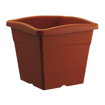 Vaso Festo in plastica colore cotto H 16.9 cm, L 20 x P 20 cm